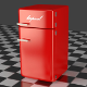 Fridge Freezer Combi red