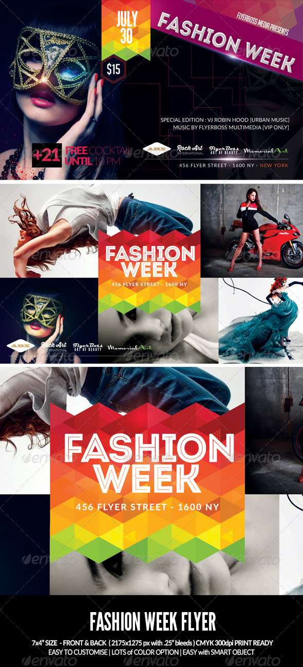 GraphicRiver Fashion Week Flyer-Front & Back 7917492