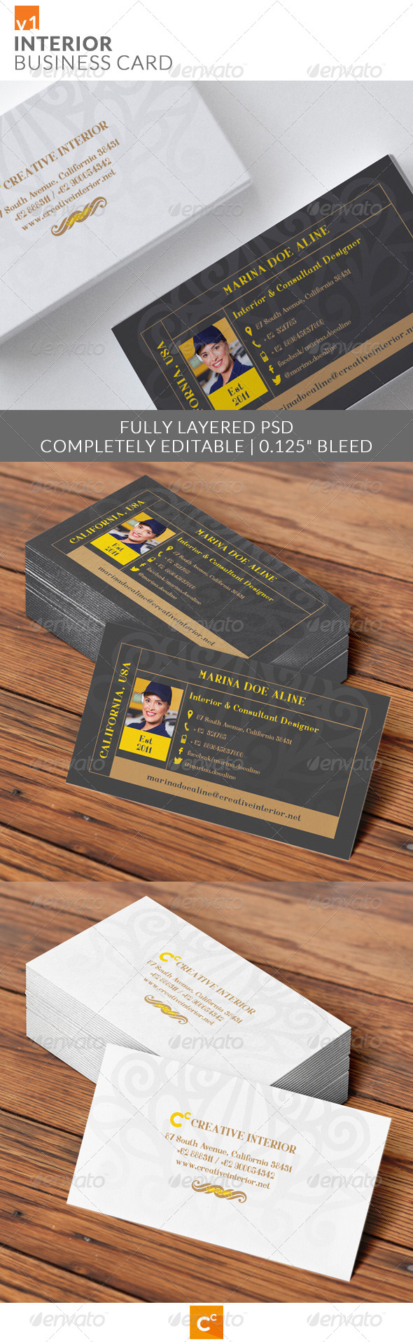 GraphicRiver Interior Business Card 7917493