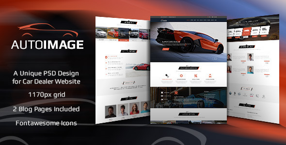 Auto Image - HTML   for Car Dealer Website - Retail Site Templates