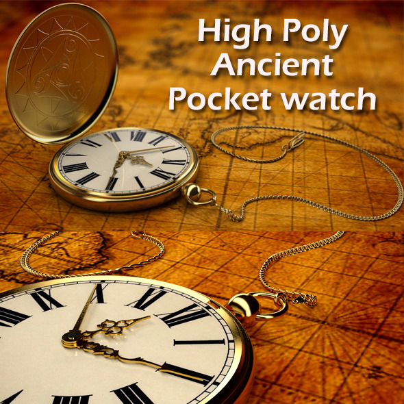pocket watch - 3DOcean Item for Sale