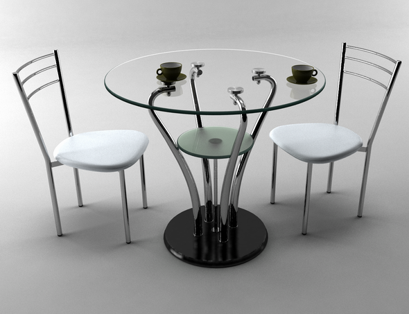 3DOcean table and chair 7 7917601