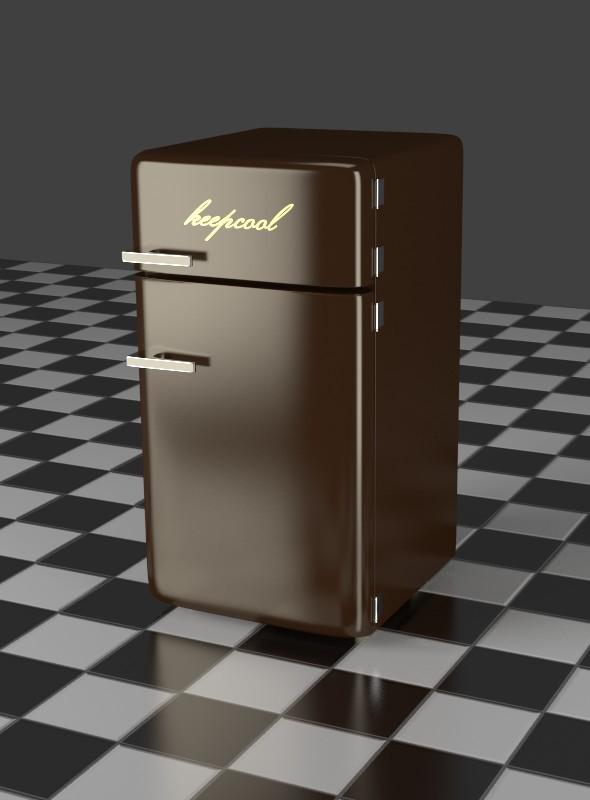 3DOcean Fridge Freezer Combi brown 7918048