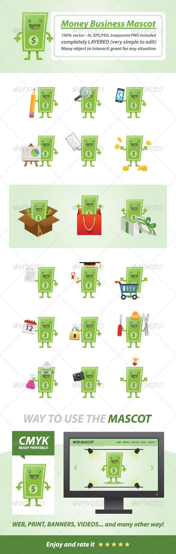 GraphicRiver Money Business Mascot 7918331