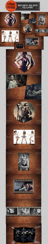 GraphicRiver 8 Photo Frame Template 7918471