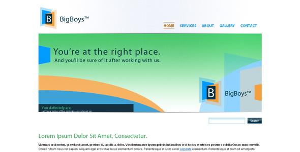 ThemeForest BigBoys Corporate Template 33625