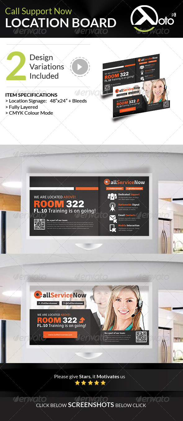 GraphicRiver Call Support Call Center Solutions Location Board 7920129