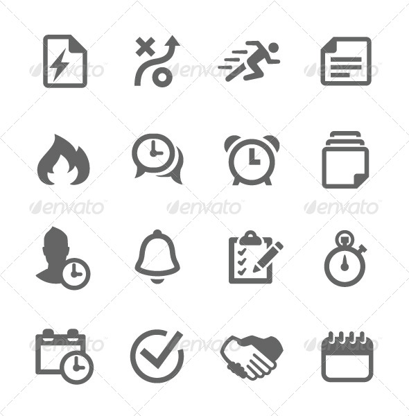 GraphicRiver Planing and Organization Icons 7920203