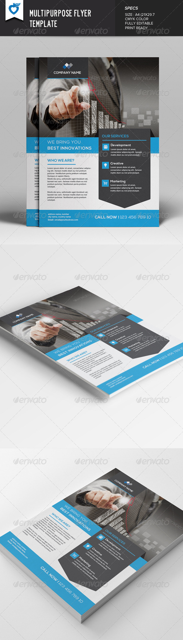 GraphicRiver Multipurpose Flyer Template v2 7914671