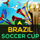 Brazil Soccer Cup 2014 FB Timeline Cover - GraphicRiver Item for Sale