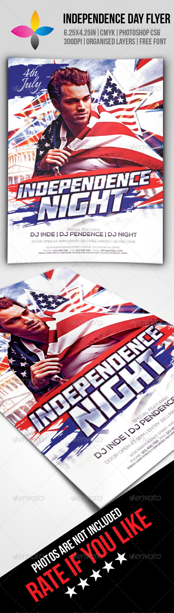 GraphicRiver Independence Day Flyer 7921454