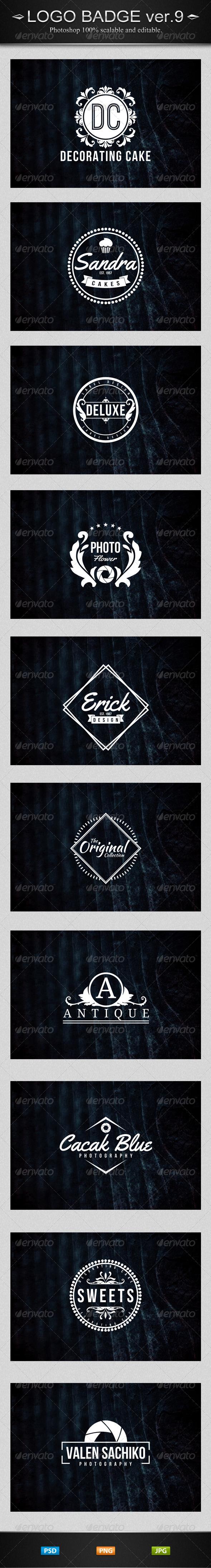 GraphicRiver 10 Vintage Logo Ver.9 Badges Insignias & Crest 7903602