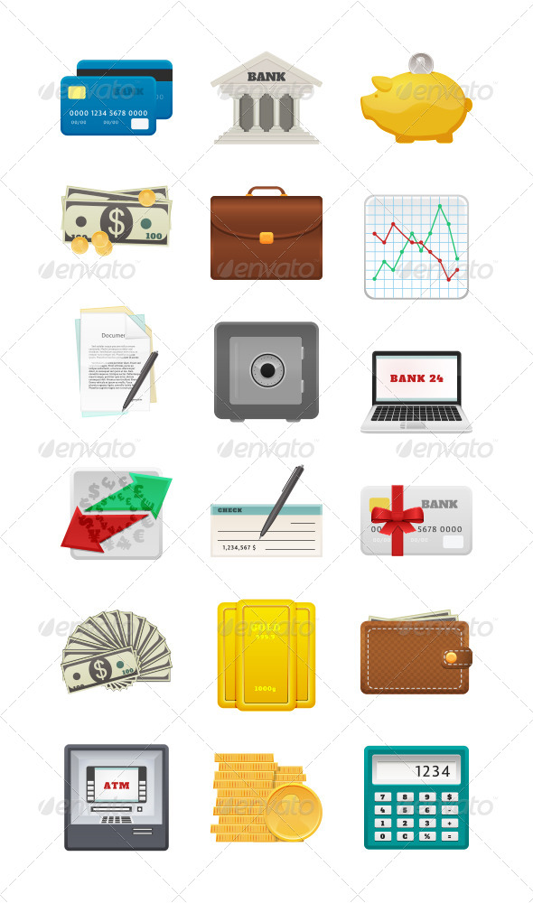 GraphicRiver 18 Banking Icons 7915386