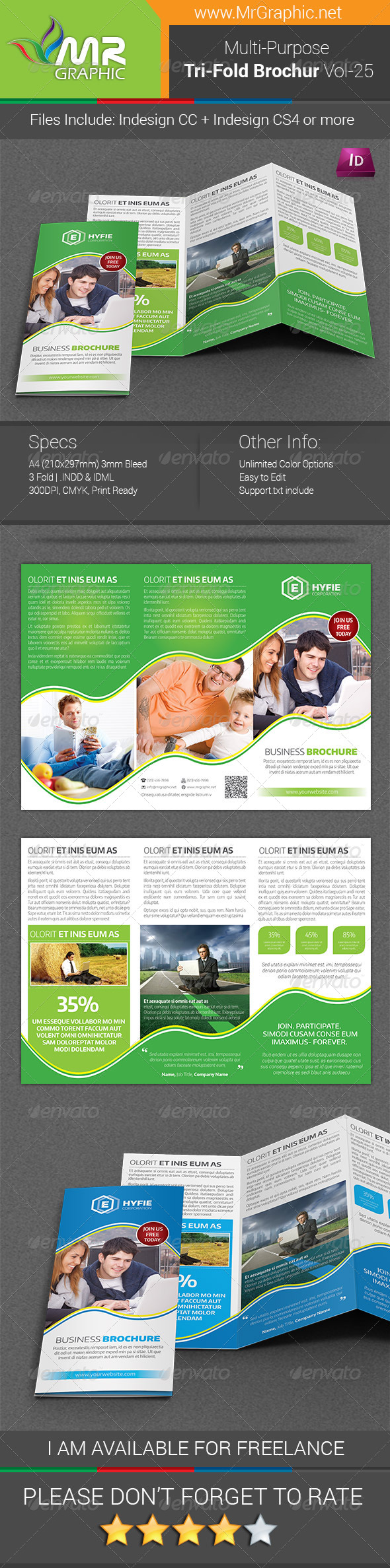 GraphicRiver Multipurpose Business Tri-Fold Brochure Vol-25 7921744
