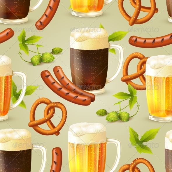 GraphicRiver Beer Seamless Pattern 7921751