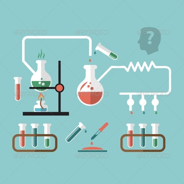 GraphicRiver Chemistry Research Infographic Sketch 7921783