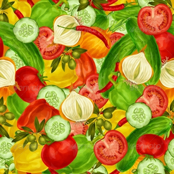 GraphicRiver Vegetables Seamless Background 7921796