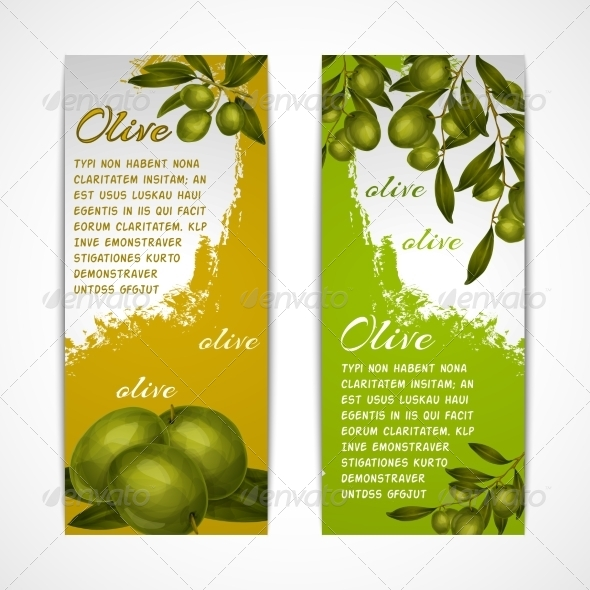 GraphicRiver Olive Vertical Banners 7921803