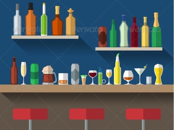 GraphicRiver Bar Counter Flat 7921810