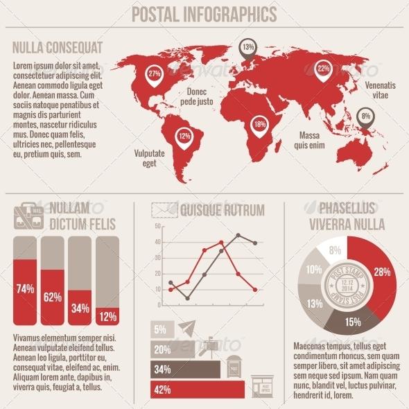 GraphicRiver Postal Service Infographics 7921818