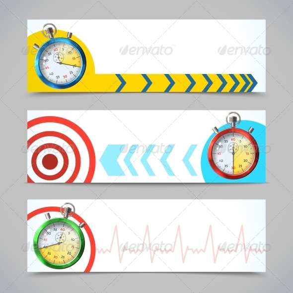 GraphicRiver Stopwatch Banners Horizontal 7921833