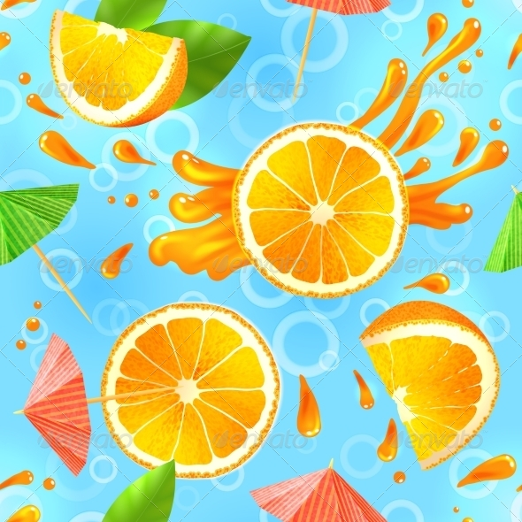 GraphicRiver Orange Seamless Pattern 7921849