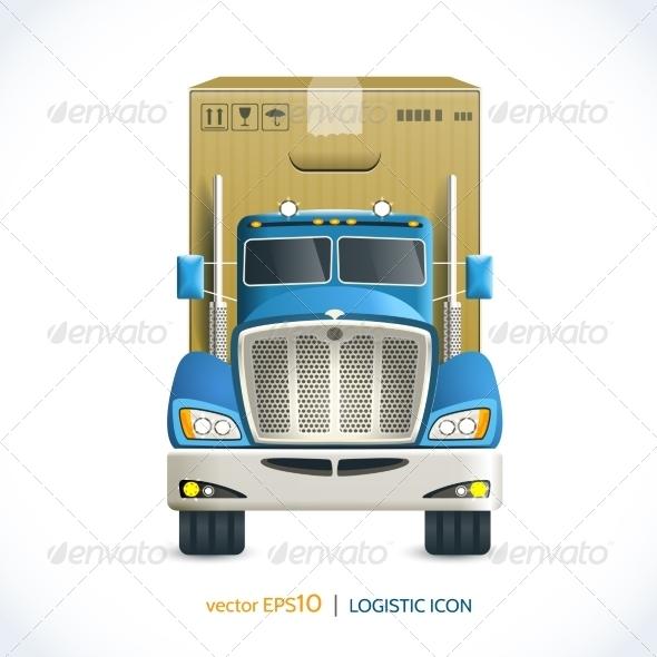 GraphicRiver Logistic Icon Truck 7921852