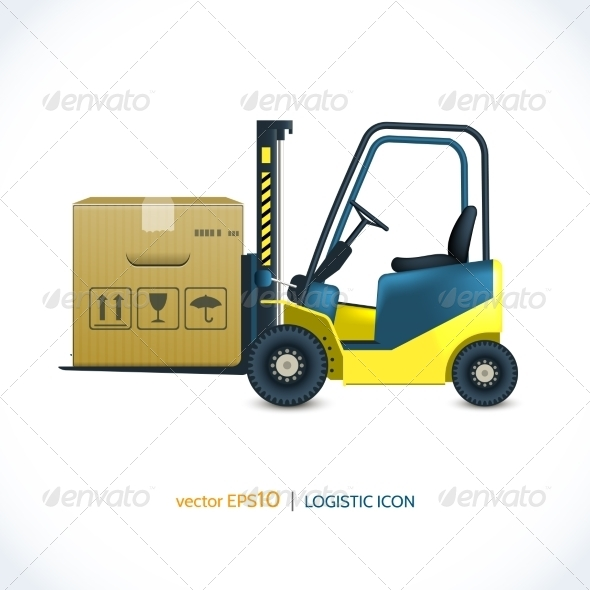 GraphicRiver Logistic Icon Forklift 7921853