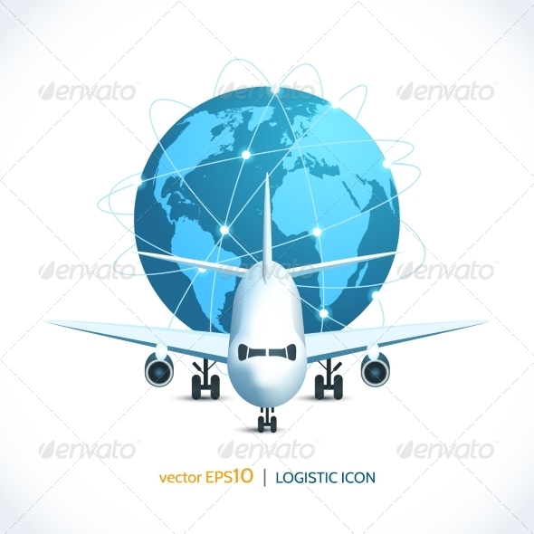 GraphicRiver Logistic Icon Airplane 7921856