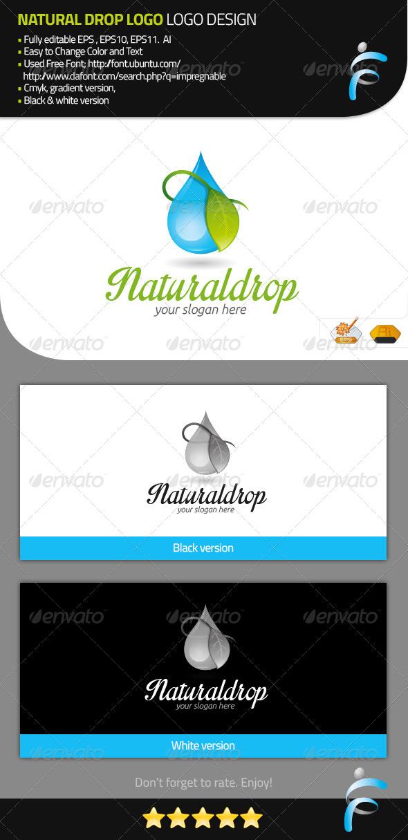 GraphicRiver Natural Drop Logo 7921857
