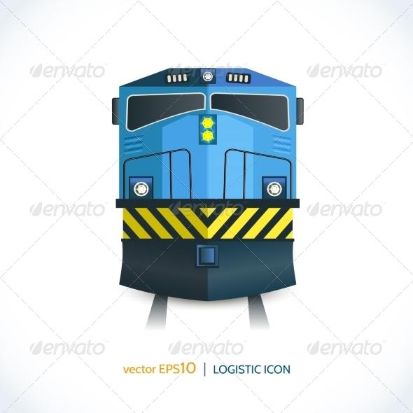 GraphicRiver Logistic Icon Train 7921859