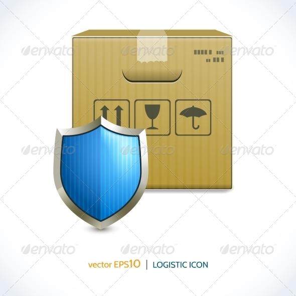 GraphicRiver Logistic Icon Box and Shield 7921861
