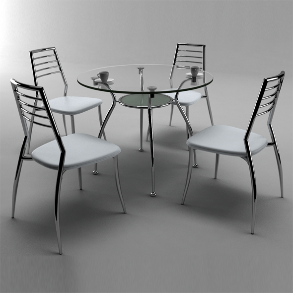 3DOcean table and chair 9 7921991