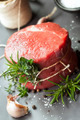 Raw Beef Fillet Steak with Herbs - PhotoDune Item for Sale