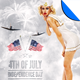 July 4 Independence Day Minimal Flyer Template - GraphicRiver Item for Sale