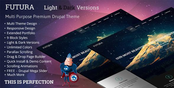 ThemeForest Futura MultiPurpose Creative Drupal Theme 7886732