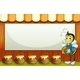Bee with a Pot Standing in Front of an Empty Sign - GraphicRiver Item for Sale