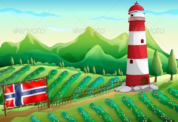 GraphicRiver The Flag of Norway at the Farm 7925564