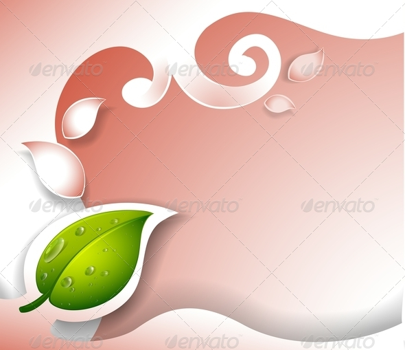 GraphicRiver Green Leaf Background Template 7925608
