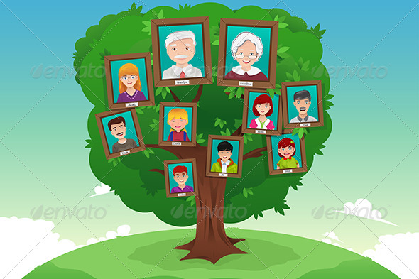 GraphicRiver Concept of Family Tree 7925610