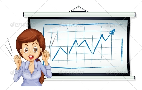 GraphicRiver A Lady Talking in Front of the Whiteboard 7925611