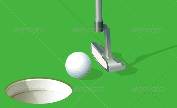 GraphicRiver A Golf Ball Near the Hole 7925684