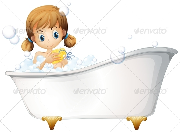 GraphicRiver A Girl on the Bathtub 7925697