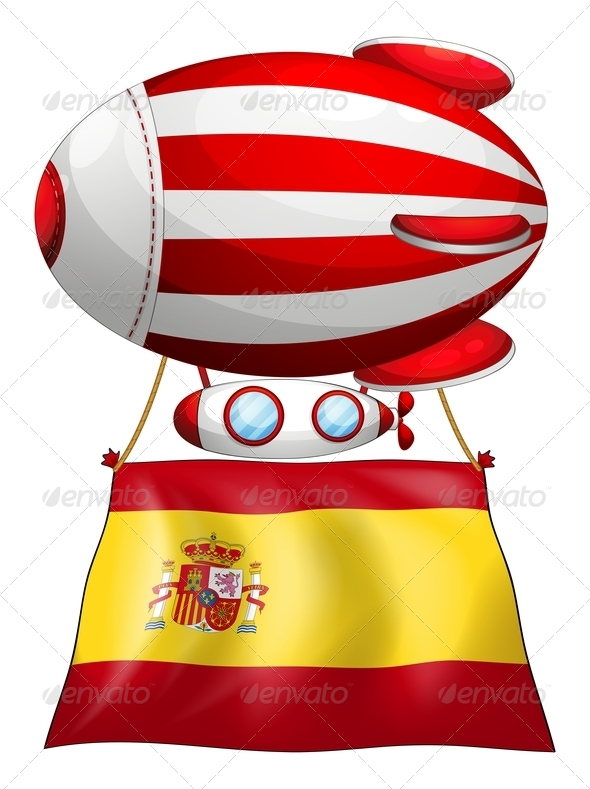 GraphicRiver A Floating Balloon with the Flag of Spain 7925698