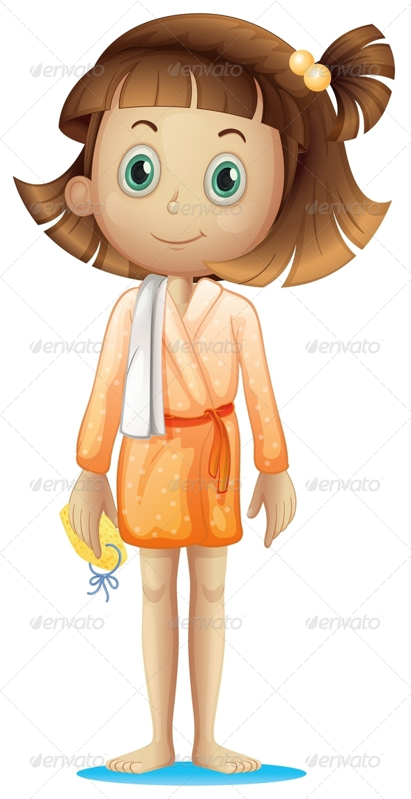 GraphicRiver A Young Woman Wearing a Bathrobe 7925712