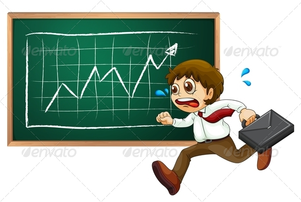 GraphicRiver Business Man Running in Front of Board 7925727