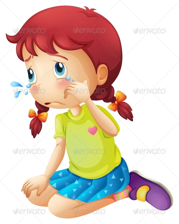 GraphicRiver Crying Girl 7925734