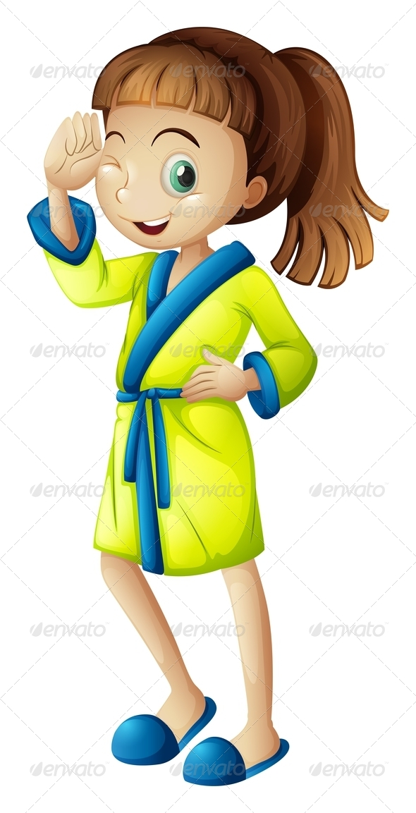 GraphicRiver Girl Wearing Bathrobe 7925755