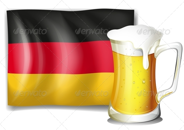 Mug of Beer with German Flag