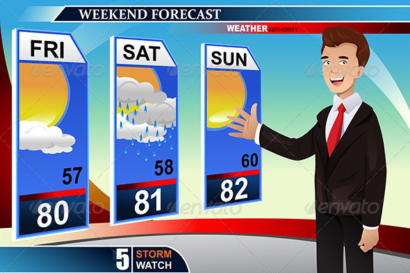GraphicRiver Weather News Reporter 7925762